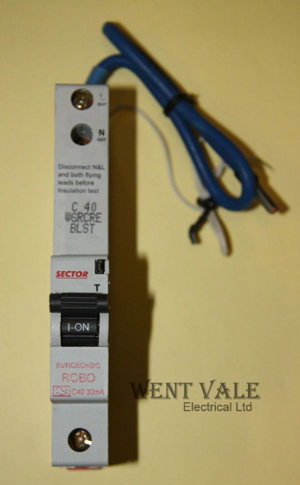 Sector SVRCBO40/C - 40a 30mA Type C Single Pole RCBO Un-used
